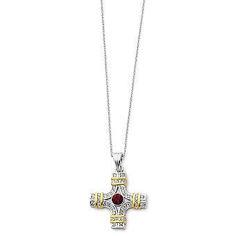 Polerad Spring Ring Rhodium pläterad Accent guld plätering Rd Clear CZ Cubic Zirconia Simulerad Diamond religiös tro Cro