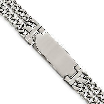 Edelstahl gravierbare poliert verstellbar 7,75 mit 1/2 Zoll Ext. ID Armband 7,75 Zoll Schmuck Geschenke für Frauen