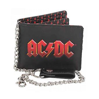 AC/DC Chain Wallet Classic Band Logo new Official Black Bifold