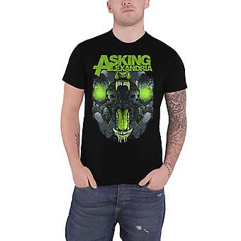 Asking Alexandria T Shirt Teeth Band Logo new Official Mens Black