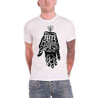 Biffy Clyro T Shirt Beyaz El Script Band Logo Resmi Erkek Yeni Beyaz