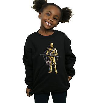 מלחמת הכוכבים עלייתו של סקייווקר ג ' ל 3PO שקידה בנות גלגלית הסווטשרט