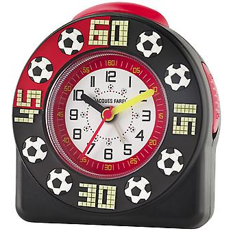 JACQUES FAREL Children's Alarm Clock Alarm Clock Analog Quartz Football Boys ACW 31 Black