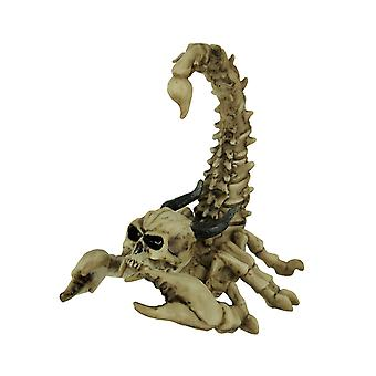 Horned Demon Skull Head Scorpion Skeleton Statue