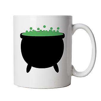 Witches Cauldron Mug | Halloween Fancy Dress Costume Trick Or Treat | Hallows Eve Ghost Pumpkin Witch Trick Treat Spooky | Halloween Cup Gift