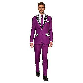 Pimp uw pak Pimp pak paars kostuum Suitmaster Slimline Economy 3-delig