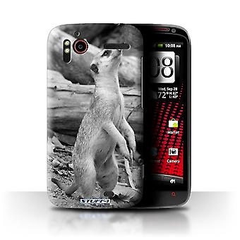 STUFF4 Custodia/Cover per HTC Sensation XE/Meerkat/Mono Zoo animali