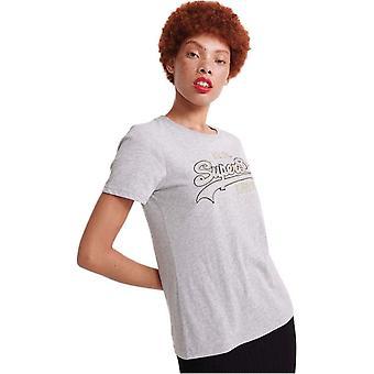 Superdry Vintage Logo Embroidered Outline T-Shirt Grey 13