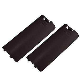 Replacement battery cover for nintendo wii remote controller back - 2 pack / black
