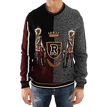 Dolce & Gabbana Multicolor Knitted Cashmere Wool Sweater -- TSH1557744