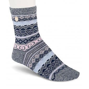 Birkenstock dames katoenen Jacquard sokken 1015064 jeans gemêleerd