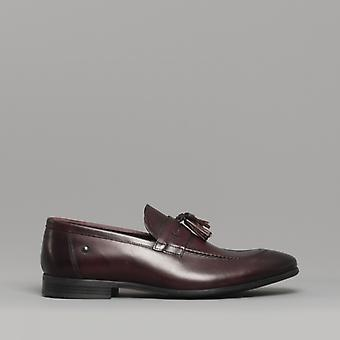 Base London Ritz menns Leather loafers vasket bordo