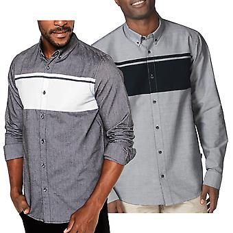 Oakley Mens Sims LS Woven Cotton Yarn Dyed Stripe Shirt
