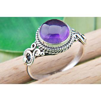 Amethyst Ring 925 hopea Sterling hopea naisten rengas violetti (MRI 86-01)