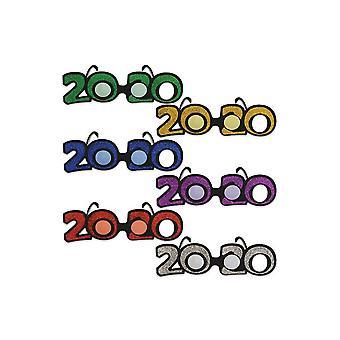 2020 Glitzernde Kunststoff Brillen