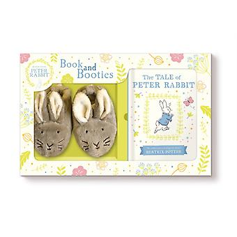 Tale of Peter Rabbit Book and First Booties Gift Set by Beatrix Potter