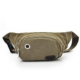 Vincenza nueva bolsa de dinero en efectivo unisex retro fashion canvas belt