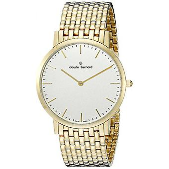 Watch Switzerland Claude Bernard 20202 37JM AID - watch Bracelet gold man steel