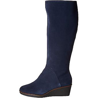 Aerosoles Women's Binocular Knee High Boot, Dark Blue Suede, 6 W US