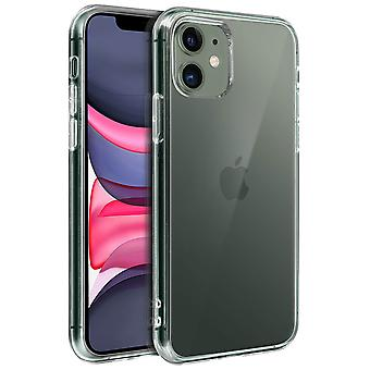 Tough rear clear case + shock absorbing silicone bumper for Apple iPhone 11