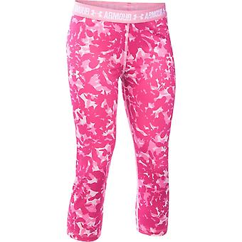 Under Armour Girls Heatgear Armour Printed Capri