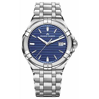 Maurice Lacroix Aikon Mens Stainless Steel Bracelet Blue Dial AI1008-SS002-431-1 Watch