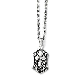 Edelstahl Fancy Hummer Verschluss poliert und religiösen Glauben Kreuz Halskette 20 Zoll Schmuck Geschenke für Frauen