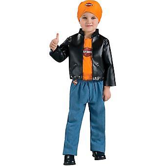 Harley Davidson Lil Cruiser Biker Gangster Dress Up Jongens Peuter kostuum 2-4