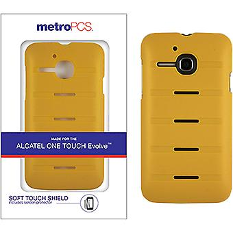 Metro PCS Soft Touch Case for Alcatel One Touch Evolve - Yellow