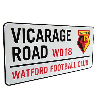 Watford FC Vicarage Road gade skilt