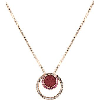Spt01045 - necklace pendant Zeades pendant necklace Rose Gold crystals woman