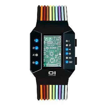 THE ONE Watch Men's Binary Wristwatch Split Screen SC202B6