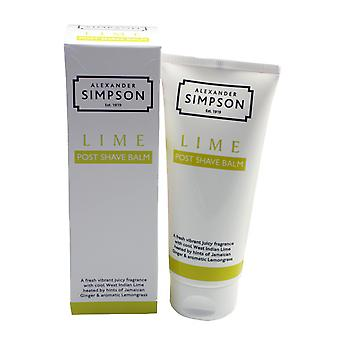 Simpsons Post Shave Balm Lime 100ml