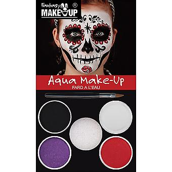 Bristol Novelty Day Of The Dead Aqua Makeup Kit