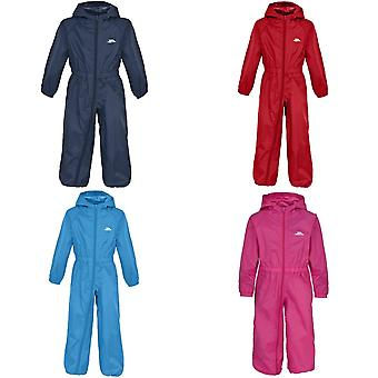 Trespass Childrens/Kids Button Waterproof Rain Suit