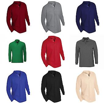 Camisa de Polo de SOLS para hombre invierno II manga larga Piqué algodón