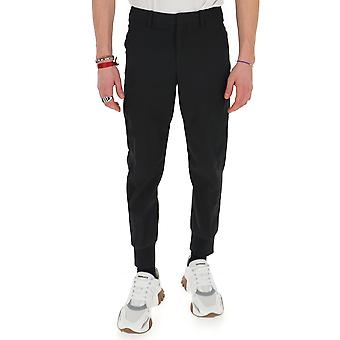 Neil Barrett Pbpa758an02401 Men's Black Cotton Pants