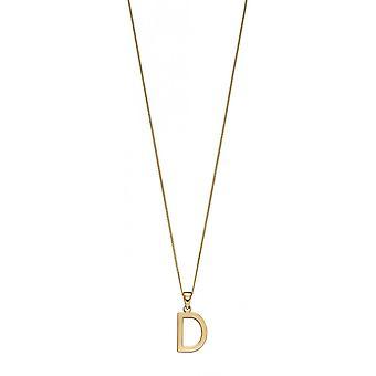جوشوا جيمس 9ct الذهب حرف D قلادة