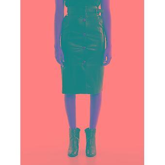 Twin-set 192tt203b00006 Women's Black Viscose Skirt