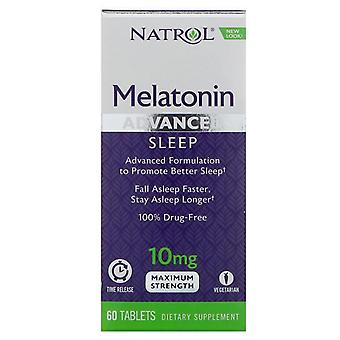 Natrol advanced sleep melatonin, 10 mg, tablets, 60 ea