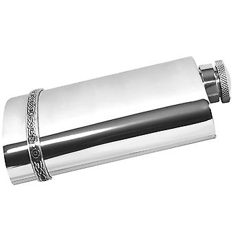 Celtic Band Pewter Flask with Captive Top - 6oz
