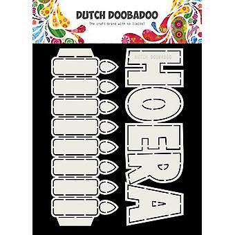 Dutch Doobadoo Card Art tekst Hoera + Kaarsen 2 x A5 (NL) 470.713.779