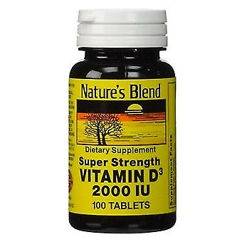 Nature's blend vitamin d3, 2000 iu, tablets, 100 ea