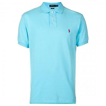 Polo Ralph Lauren Ralph Lauren Polo Hamm Blu Short Sleeve Slim Fit Polo T-Shirt 710536856