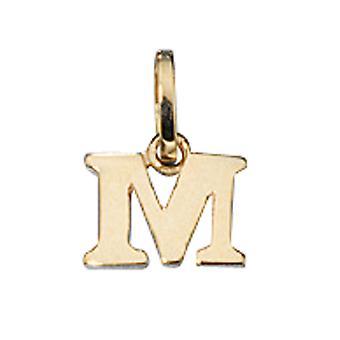 Damen Anhänger Buchstabe M 333 Gold Gelbgold Buchstabenanhänger