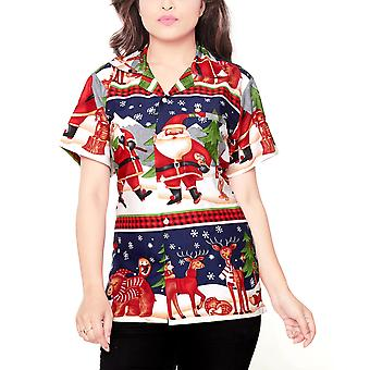 Club cubana women's regular fit classic short sleeve casual blouse shirt ccwx12