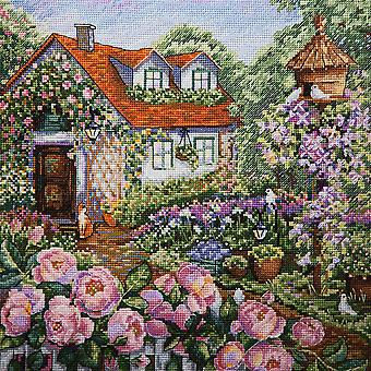 Merejka Cross Stitch Kit - House in Roses