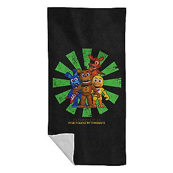 Five Nights At Freddys Retro Japanese Beach Towel