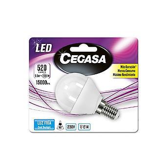 Sférická LED žiarovka Cegasa E14 5, 5 W A +