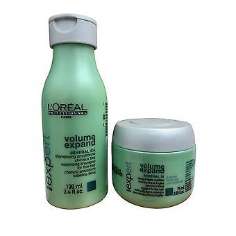 L'Oreal Volume Expand Travel Shampoo 3.4 OZ & Masque 2.56 OZ set